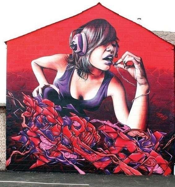 Граффити от уличного художника Smug One (27 фото)
