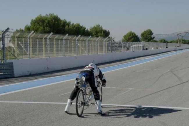 Новый мировой рекорд на велосипеде (10 фото)