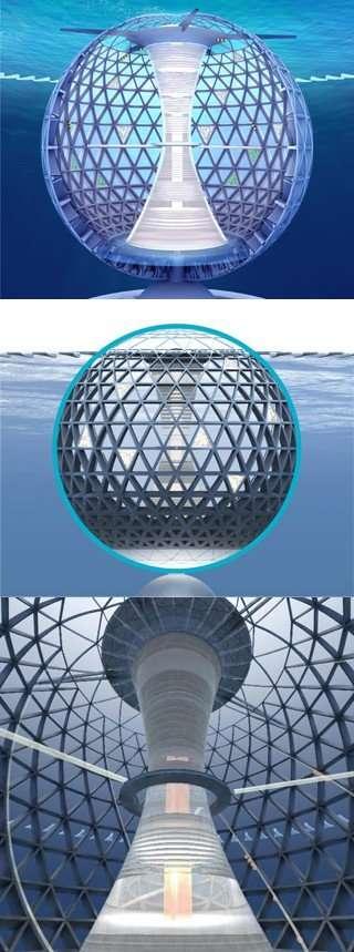 Подводный город в Японии (7 фото)