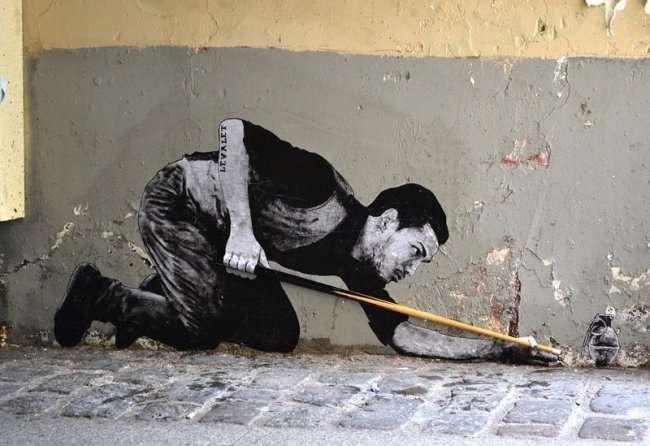 Уличный арт в Париже (27 фото)