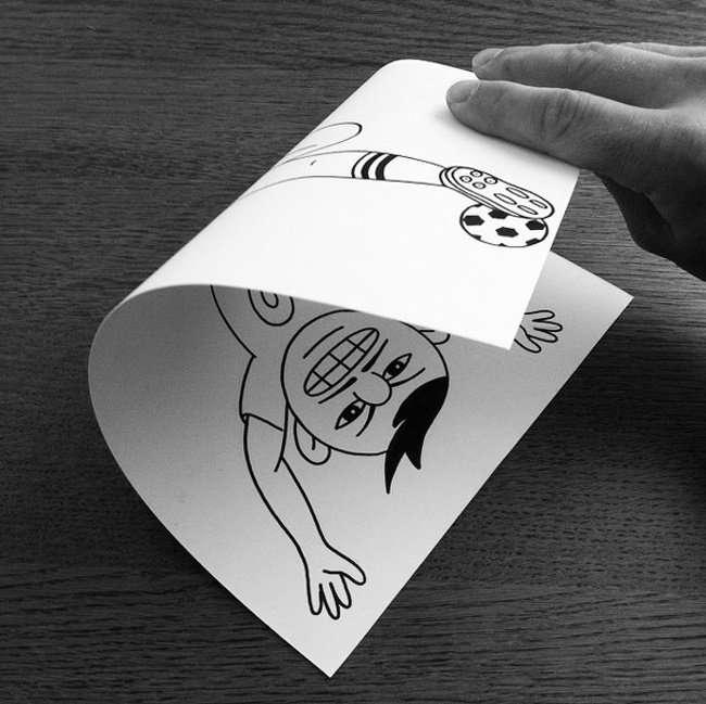 Манипуляция с бумагой от HuskMitNavn (19 фото)