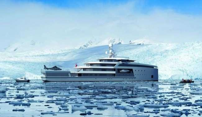 100-метровая яхта-ледокол (9 фото)
