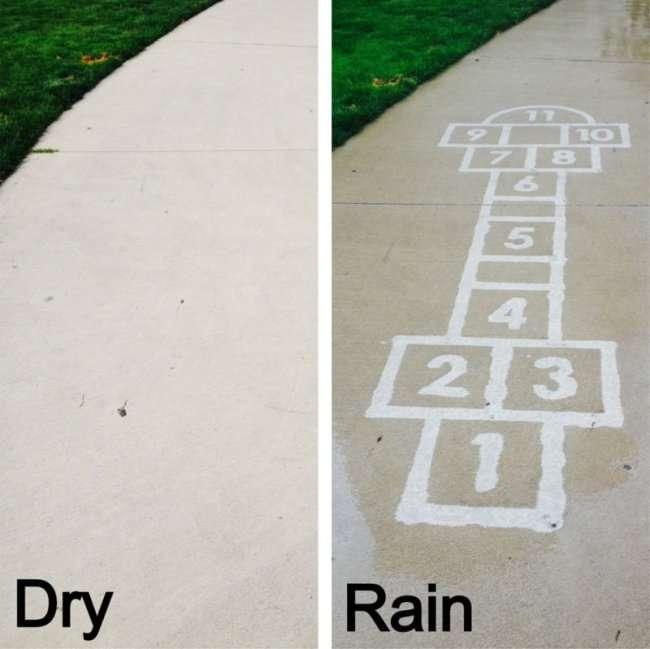 краска, которая проявляется под дождем (14 фото + видео)