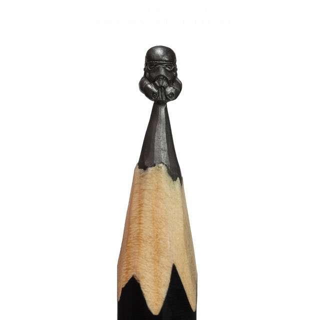Миниатюрные скульптуры из карандашей (21 фото + 4 видео)