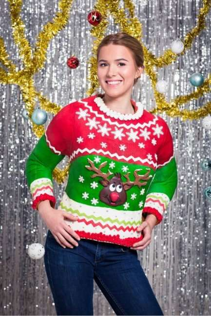 Оригинальный вкусный свитер к Новому годку (5 фото)