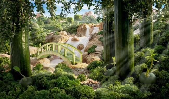 Карл Уорнер может создать пейзаж из всего (24 фото)