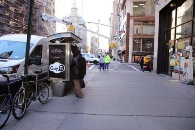 Будка для самоудовлетворения в центре Нью-Йорка (3 фото)