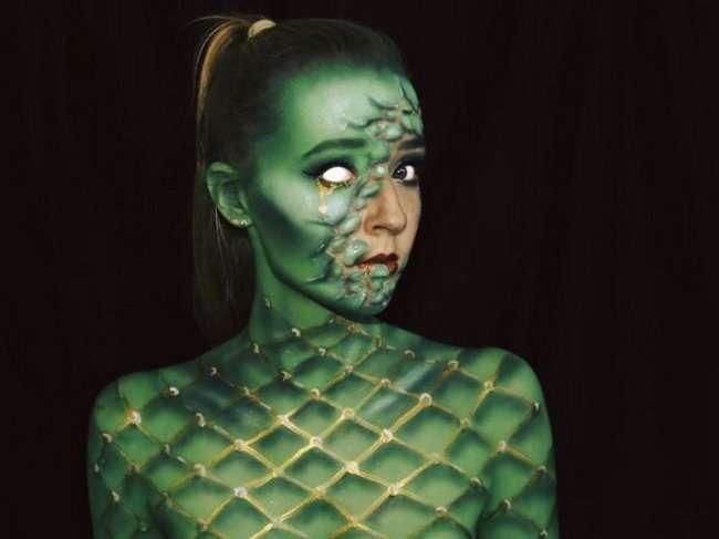16-летняя Лара Вирф перевоплощается в монстров (19 фото)