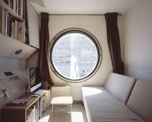 Накагин - огромное капсульное здание в Японии (12 фото)