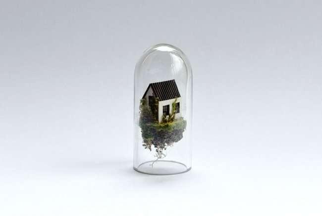 Миниатюрные домики в колбе (16 фото)
