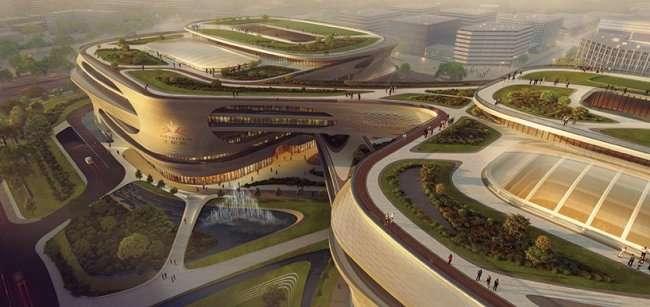 Удивительный центр медицины в Китае (3 фото)