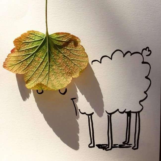 Рисунки, выросшие из тени (12 фото)