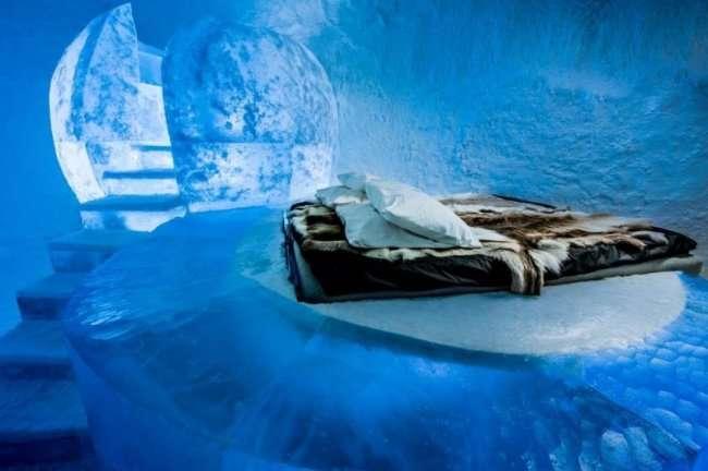 Уникальный ледяной отель в Швеции (13 фото)